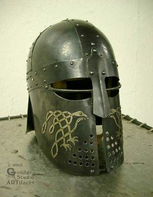 Medieval Visored Barbuta Armour Helmet Greek Roman Barbute Gladiator
