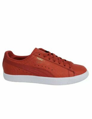 premium selection 72d88 9529e PUMA CLYDE DRESSED Lace Up Red Leather Trainers Size 11.5 US Men's Shoes NEW