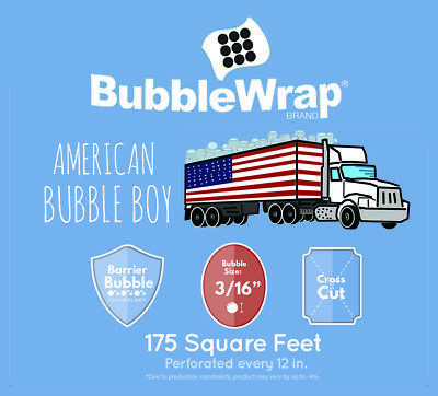 "BUBBLE WRAP , Small 3/16'', Medium 5/16, 12"" + 24"" American Bubble Boy"