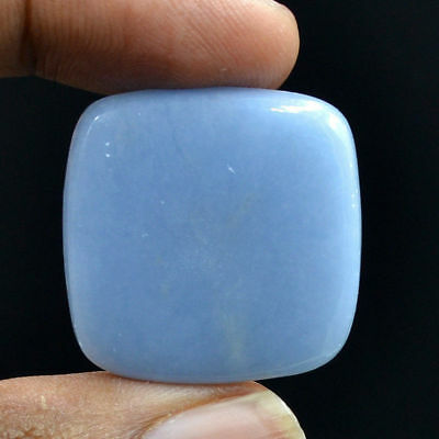 Cts. 49.85 Natural Attractive Angelite Square Cabochon Cab Loose Gemstone