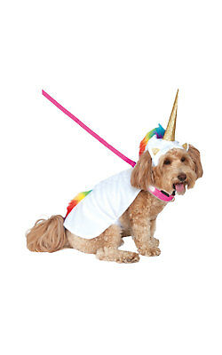 Light Up Unicorn Cape & Hood Fancy Dress Costume Outfit Dog Pet Animal S To XL