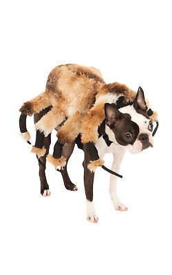Giant Black Spider Fancy Dress Costume Halloween Outfit Dog Pet Animal S To L