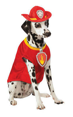 Rubies Marshall Paw Patrol Fancy Dress Costume Outfit Dog Pet Puppy S