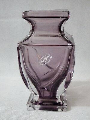 Royal Gallery Vintage Crystal Vase Purple 7 Inches Made In Italy