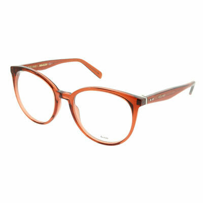 fd4a2708e06 Celine Thin Mary CL 41348 EFB Dark Orange Plastic Round Eyeglasses 53mm
