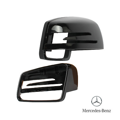 Mercedes Black Wing Mirror Cover Caps Class (W176 W246 W204 W212 W221 CLA C117)