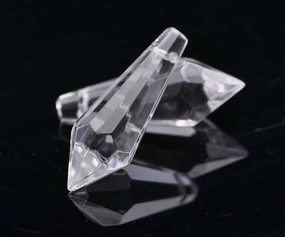5pcs 22 mm 28 mm 38 mm Faceted Teardrop glass crystal Loose Spacer Beads Pendentif