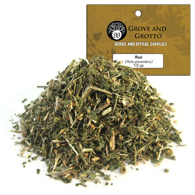 Rue 1/2 oz Package Ritual Herb ORGANIC C/S by Grove and Grotto