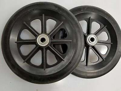 """Wheel Replacement For Wheelchairs, 8""""by 7/8"""" non marring Black 7/16"""" bearing"""
