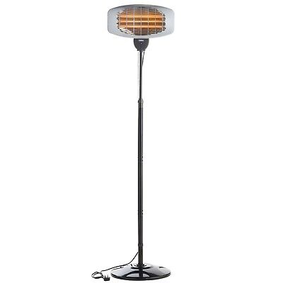 VonHaus Electric Patio Heater 2000W Free Standing - Weatherproof Safety IPX4