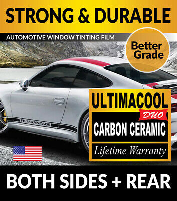 99% Uv + 50X Stronger Precut Window Tint For Ford F-350 Super Cab Ext 13-16