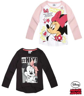 Disney Minnie Mouse Girls Long Sleeve Tshirt, T Shirt, Licensed Product