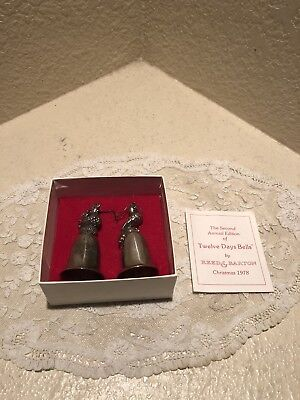 Reed and Barton R&B 12 Days of Christmas Bells Turtle Dove French Hen Used