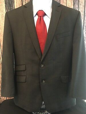 Calvin Klein Sports Coat, Sz 42R, Wool, Classic 2-Button Front 2-Side Rear Vents