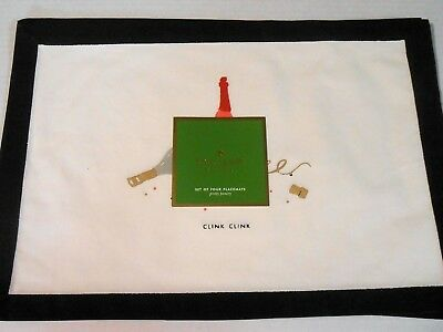 "kate spade New York Christmas Clink Clink Set of 4 Placemats 13"" x 19"""