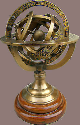 Solid Brass Sphere Armillary Collectible Nautical Decor Gift