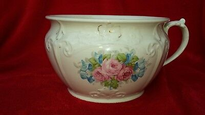 Antique J & G Meakin Pink Rose Pattern -Chamber Pot (diameter - 9 inches)
