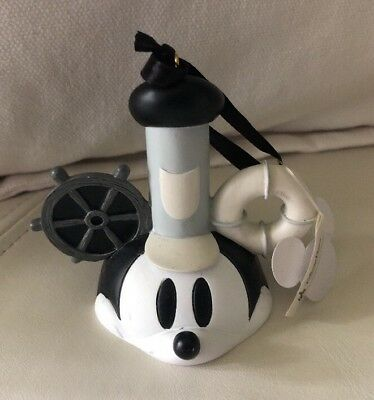 Disney Parks -Mickey Mouse Steamboat Willie Ear Hat Christmas Ornament