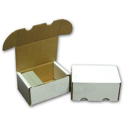 5x BCW 300 COUNT CT Corrugated Cardboard Storage Box -Sports/Trading/Gaming Card