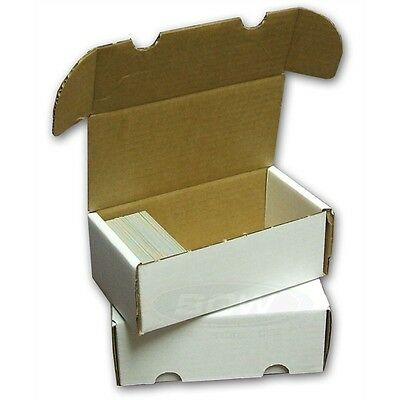 5x BCW 400 COUNT Corrugated Cardboard Storage Box Sport/Trading/Gaming Cards ct