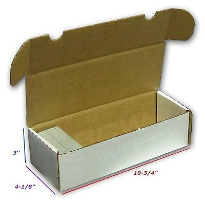 5x BCW 550 COUNT Corrugated Cardboard Storage Boxes Sport/Trading Cards ct box