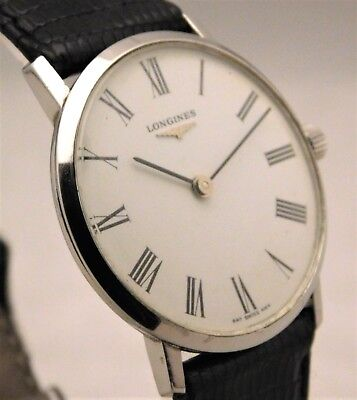 Longines Classic Vintage Manual Wind Swiss Made SS Pre-Owned Mens Watch....32mm