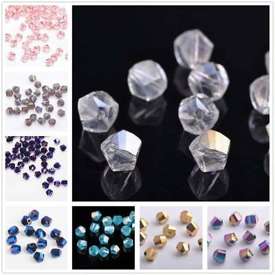 Wholeslae 100pcs 6mm Twist Helix Crystal Glass Faceted Loose Spacer Beads DIY