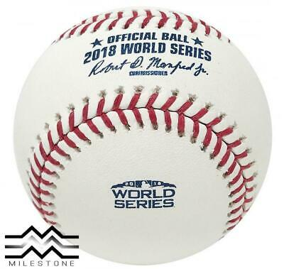 (12) Rawlings 2018 World Series Official MLB Game Baseball Boxed - Dozen