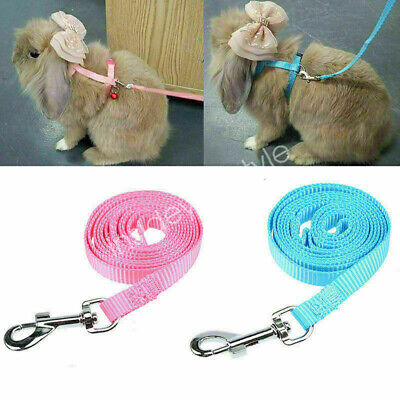 Pet Rabbit Guinea Pig Traction Rope Harness With Lead Leash for Small Animal