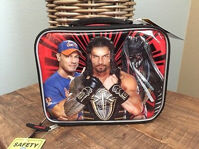 WWE Lunch Box Soft Kit Insulated Cooler Bag John Cena Roman Reigns Finn Balor