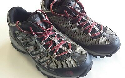 662837ffe68 THE NORTH FACE Men's Ultra 109 GTX Hiking Shoe Zinc Grey and Pompeian Red  size 5