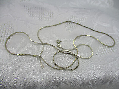 "Vintage Estate Jewelry Marked 925 Sterling Silver 24"" Box Chain Necklace Thin"