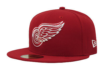 watch ae40a 572a0 New Era 59Fifty NHL Hockey Cap Detroit Red Wings Mens Red Fitted 5950 Hat