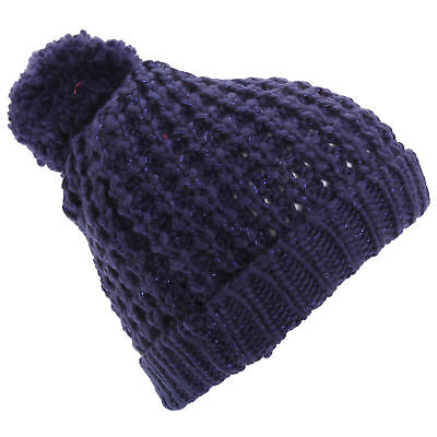 Womens/Ladies Shimmer Winter Beanie Bobble Hat (HA444)