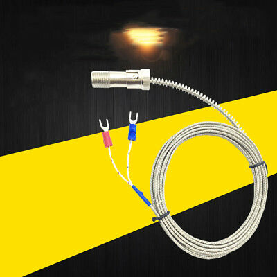 0~400℃ Compression Spring K Type PT100 Thermocouple Probe Wire Lead 1-5M 3-16ft