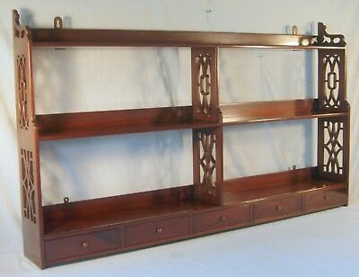 Lg. Vintage Mahogany Wall Shelf Superb Craftsmanship Kittenger Quality or Better