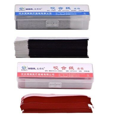 600Sheets Dental Articulating Paper Strips Biting Paper Whitening Blue +Red