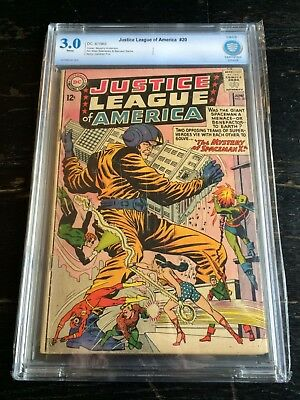 Justice League of America #20 CBCS 3.0 White Pages Not CGC