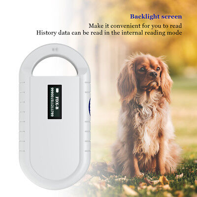 Portable RFID Reader Handheld Animal Chip Reader Pet Microchip Scanner Universal