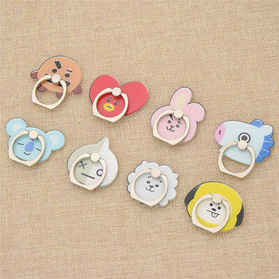 Universal BT21 Cartoon Mobile Phone Holder Finger Ring for Stand Gifts Decor