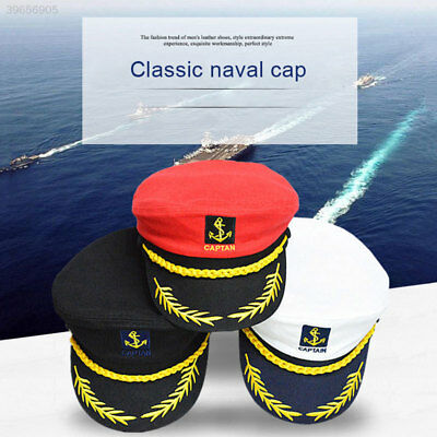 e2c62aa2b51 Deluxe Funny Satin Captain Hat Naval Officer Cap For Fancy Dress Cosplay  Party