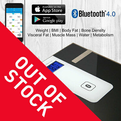 Wireless Bluetooth Digital Body Fat Smart Scale Analyser App BMI As Fitbit iOS