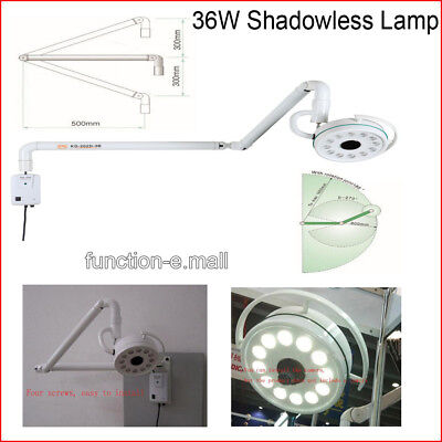 36W Wall Hanging Ceiling LED Surgical Medical Exam Light Shadowless Lamp