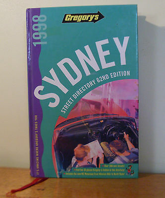 GREGORY'S 62nd Edition Sydney Street Directory 1998.   Excellent condition.