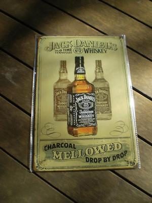 Jack Daniels collection pressed metal man cave sign Free post