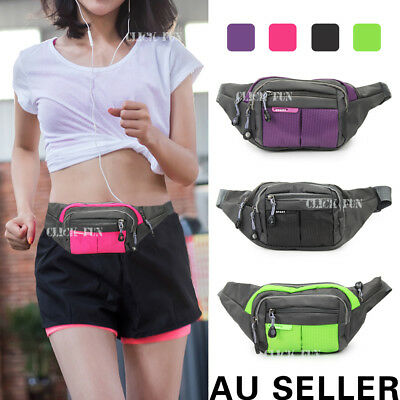 Unisex Bum Bag Running Travel Handy Hiking Sport Fanny Pack Waist Belt Zip Pouch