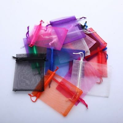 "Lot 100 300 3""x4"" 4""x6"" 5""x7"" Organza Jewelry Pouch Wedding Party Favor Bags"