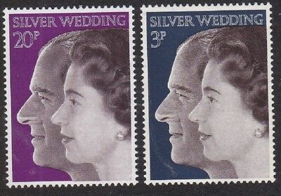 GB 1972 - Royal Silver Wedding  - Set of 2 Stamps
