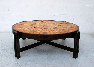 Ceramic coffee table by Roger Capron 60s