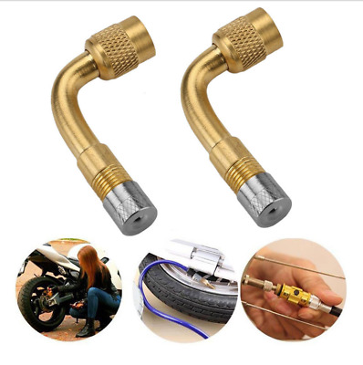 90 Degree Motorcycle Car Tire Stem Extender Tyre Valve Extension Adaptor